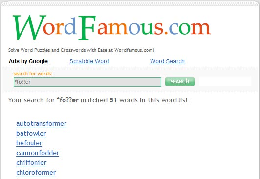 WordFamous.com - Click for fullscreen